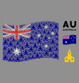 waving australia flag pattern christian church vector image vector image