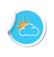 Weather forecast clouds with sun icon vector image