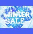 winter banner for sales vector image vector image