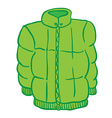 winter jacket vector image vector image