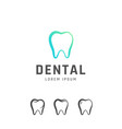 dental emblem design vector image