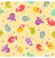Baby seamless with cute birds vector image