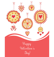 Beautiful Greeting Card for Valentine s Day vector image