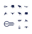 13 horn icons vector image vector image