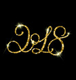 2018 gold glitter texture on black background vector image vector image