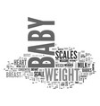 a guide to baby scales text word cloud concept vector image vector image