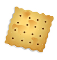 A topview of a biscuit vector image vector image
