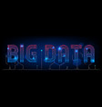 abstract big data technology polygon background vector image vector image