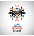 abstract ornament element aztec native vector image