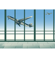 aircraft in sky vector image vector image
