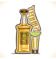 alcohol drink tequila vector image vector image