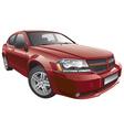 American mid size car vector image vector image