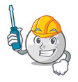 automotive golf ball mascot cartoon vector image