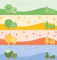 banner seasons simple vector image