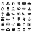 banquet cake icons set simple style