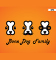bone dog family vector image