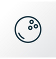 bowling ball icon line symbol premium quality vector image