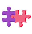 business connection match puzzle broker vector image