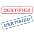 certified textile stamps vector image vector image