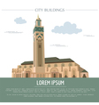 City buildings graphic template Morocco vector image