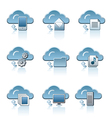 cloud icon set vector image vector image
