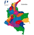 Colombia map vector image vector image