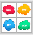 colorful comic clouds background design vector image vector image