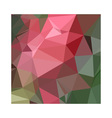Congo Pink Abstract Low Polygon Background vector image vector image