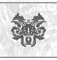 Damask ornamental background or wallpaper vector image