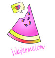 delicious juicy watermelon icon vector image vector image