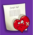 design with broken heart vector image vector image