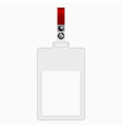 empty plastic tag vector image vector image