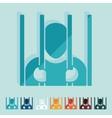 Flat design prisoner vector image vector image