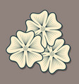 flower icon isolated on dark background vector image vector image