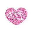for valentines day pink heart with vector image