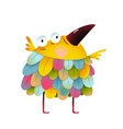 Funny colorful bird for kids cartoon vector image vector image