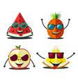 funny fruits set vector image