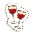 Glass wine vector image vector image