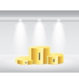 Gold winners podium isolated vector image vector image