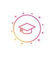 graduation cap line icon education sign vector image vector image