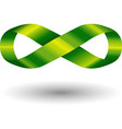 Green infinity symbol vector image vector image