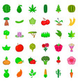 grow icons set cartoon style vector image vector image