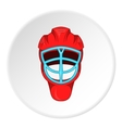 Hockey helmet icon cartoon style vector image vector image