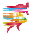 keep running logo gesign colorful poster template vector image vector image