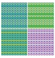 Knitted linen seamless vector image