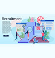 landing page template of recruitment concept vector image vector image