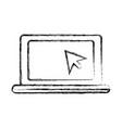 laptop pc symbol vector image vector image