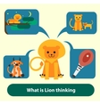 Lion thinking about food hunting pride and vector image vector image