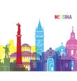 Messina skyline pop vector image vector image