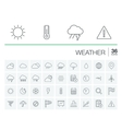 Meteo and weather icons vector image vector image